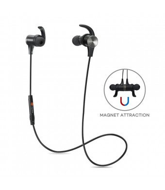 Bluetooth Headphones, TaoTronics Bluetooth 4.1 Stereo Magnetic Earphones, Secure Fit for Sport, Gy