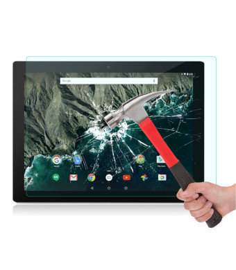 """Google Pixel C Screen Protector [0.26 mm Tempered Glass], OMOTON Glass Screen Protector for Google Pixel C 10.2"""" [Scratch Resist] [Anti-Crack] [Bubble Free Install] [9H Hardness] [Crystal Clear]"""