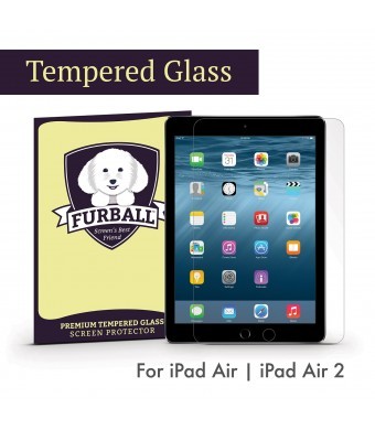Apple iPad Air / iPad Air 2 / 9.7-inch iPad Pro (2016) Premium Tempered Glass Screen Protector by Furball. Ultra thin, 99.99% Touch-Screen Accurate. Protect Your Screen from Drops and Scratches