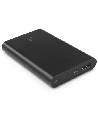 8000mAh Power Bank Portable charger, iXCC Aluminum High Speed Compact External Battery Pack Charger for iPhone, iPad, Samsung Galaxy and More - Black
