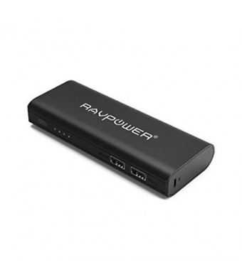 RAVPower Portable Charger 13400mAh (2A Input, 4.5A Dual USB Output) Power Bank External Battery Pack with iSmart Technology for iPhone, iPad, Smartphones and Tablets (Black)