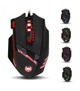 THINKTANK T90 Zelotes 9200 DPI High Precision Wired USB Gaming Mouse Computer Mice for PC, MAC, 8