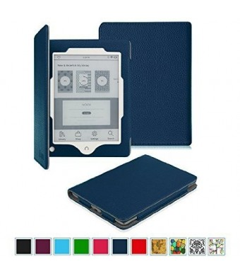 Fintie NOOK GlowLight Plus Case - Slim Fit Premium Vegan Leather Cover for Barnes and Noble NOOK GlowLight Plus eReader 2015 Release (BNRV510), Navy