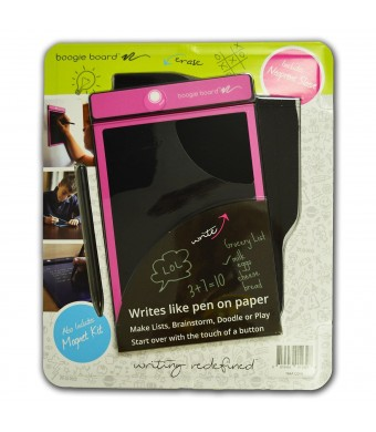 """Boogie Board E-Writer 8.5"""" Paperless Memo Pad Tablet Pink with Neoprene Sleeve + Stylus"""