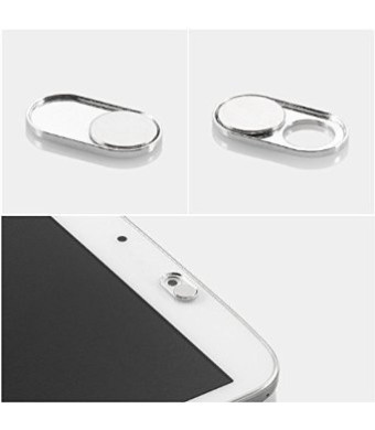 ProTech Privacy Silver Metal Webcam Cover - iPhone Android Laptops Macbooks PCs Tablets Smartphones - Swiss Made