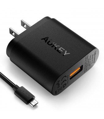 AUKEY PA-T9 USB Wall Charger with Quick Charge 3.0 for Galaxy S7/S6/Edge, LG G5 (Qualcomm Certified)