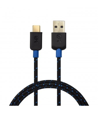 Cable Matters USB 2.0 Type C (USB-C) to Type A (USB-A) Cable with Braided Jacket in Black 3.3 Feet