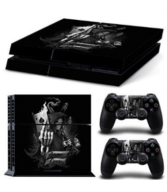 Pavior Vinyl Decal Protective Skin Cover Sticker for Sony PS4 Console And 2 Dualshock Controllers #06