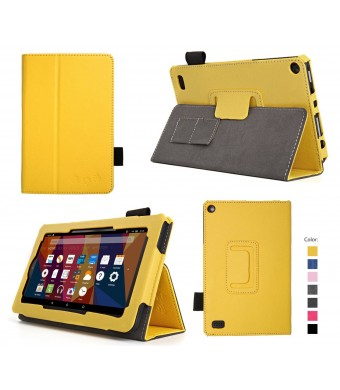 "Elsse Case for Fire 7 - Premium Folio Case with Stand for the NEW Fire, 7"" Display (Sept, 2015 Release)"