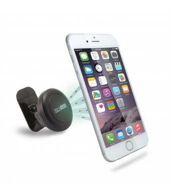 TechMatte MagGrip Sticker Universal Dashboard Car Mount Holder for Smartphones including iPhone 6, 6S, Galaxy S6, S6 Edge - Black
