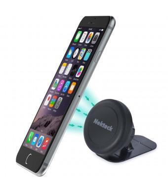 Car Mount, Nekteck Universal Stick on Dashboard Magnetic Car Mount Holder for iPhone 7 6 6S Plus 5S 5C 5 SE, Samsung Galaxy S6/S7 Edge Plus S5 Note 5 4 3, LG G5, Nexus 6P 5X More, Black