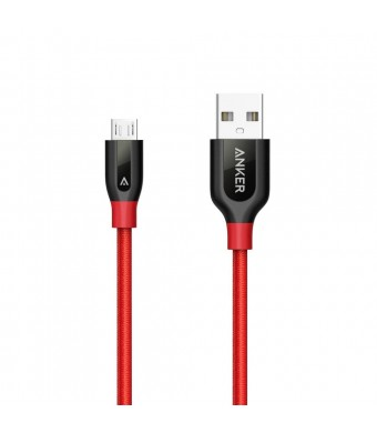 Anker PowerLine+ Micro USB (1ft) The Premium Durable Cable [Double Braided Nylon] for Samsung, Nexus, LG, Motorola, Android Smartphones and More