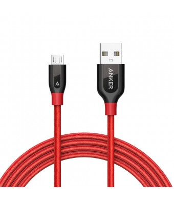 Anker PowerLine+ Micro USB (6ft) The Premium Durable Cable [Double Braided Nylon] for Samsung, Nexus, LG, Motorola, Android Smartphones and More