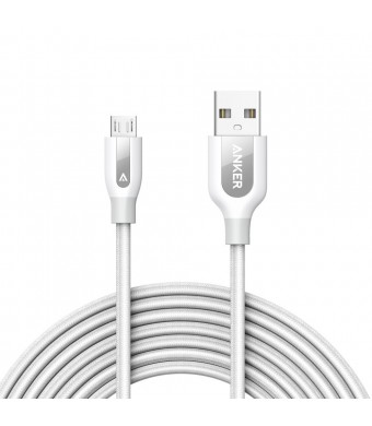 Anker PowerLine+ Micro USB (10ft) The Premium Durable Cable [Double Braided Nylon] for Samsung, Nexus, LG, Motorola, Android Smartphones and More