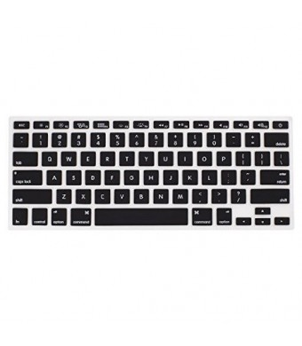 LENTION Silicone Keyboard Cover Protector, Ultra Thin Soft ,for Apple MacBook Pro 13 15 17 Inch with or without Retina Display and MacBook Air 13 Inch (Black, 1 Pack)