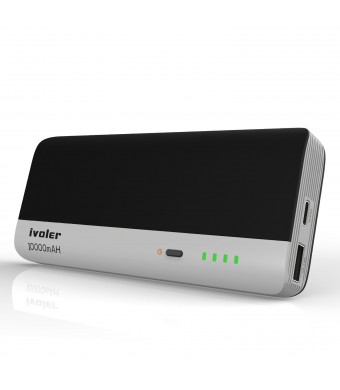 USB Type C Power Bank, iVoler 10000mAh External Battery Pack (Type C Fast 3A IN/OUT Charging) for Nexus 6P/ 5X, MacBook 12 inches, Apple iPhone, iPad, Samsung and more