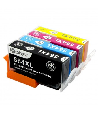 Sotek 4 Pack High Capacity Replacement for HP 564 HP 564xl ink Cartridge Compatible with HP Photosmart 5520 6520 6510 7510 7520 7515 C6380 C310a (1 Black 1 Cyan 1 Magenta 1 Yellow)