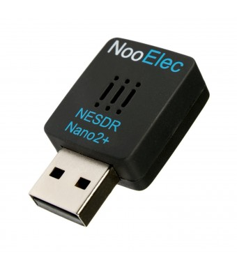 NooElec NESDR Nano 2+ Tiny Black RTL-SDR USB Set (RTL2832U + R820T2) with Ultra-Low Phase Noise 0.5PPM TCXO, MCX Antenna and Remote Control; Software Defined Radio, DVB-T and ADS-B Compatible, ESD Safe