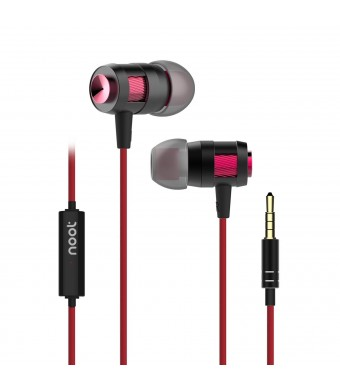 Noot Earphones With Microphone E586 Premium Earbuds Stereo Headphones and Noise Isolating, Made for iPh