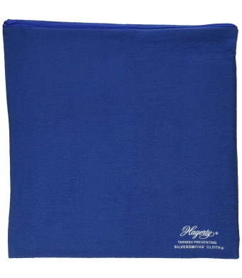 W. J. Hagerty Hagerty 19400 9-by-12-inch Zippered Holloware Bag, Blue