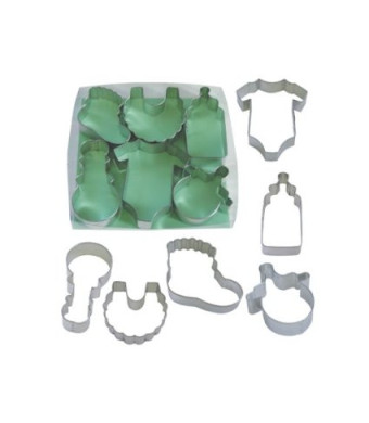 R&M R and M International 1812 Baby Shower 6-Piece Cookie Cutter Gift Set