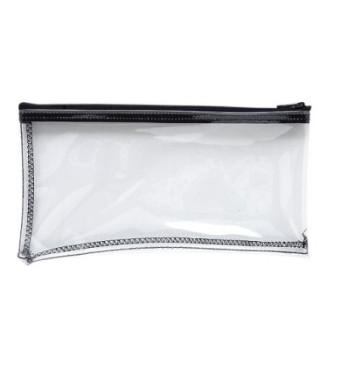 MMF Industries Vinyl Zipper Wallet, 11 x 6 Inches, Clear (234041720)