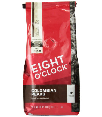Eight O'Clock Coffee Eight O'Clock Colombian Peaks Whole Bean Coffee, 11-Ounce Bags (Pack of 6)