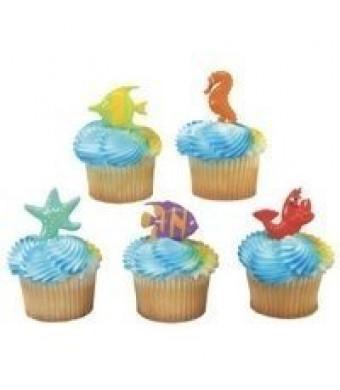 DecoPac Sealife Friends Cupcake Picks - set of 24