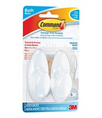 Command BATH18-ES-E 2 Hooks 2 Strips Medium Bath Hook