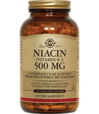 Solgar Niacin (Vitamin B3) 500 mg Vegetable Capsules 250