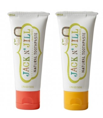Jack N' Jill Natural Toothpaste, Strawberry and Banana, 1.76oz (Pack of 2)
