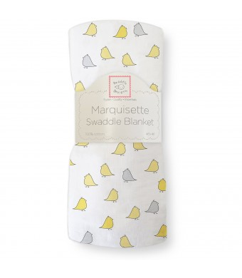 SwaddleDesigns Marquisette Swaddling Blanket, Jewel Tone Little Chickies, Yellow