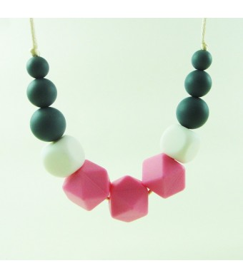 Co.Co Silicone teething bead necklace for babies and Mommas, 100% safe , BPA free , soft jewelry soothin