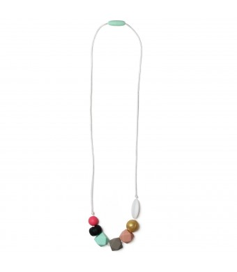 Mama & Little Mama and Little Jess Silicone Baby Teething Necklace for Moms - Nursing Necklace in Multi - Teethi