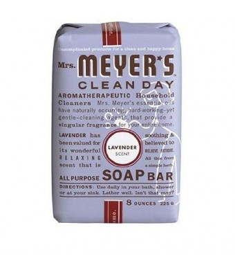 Mrs. Meyers Mrs. Meyer's Clean Day Bar Soap, Lavender, 8 Ounce Bar