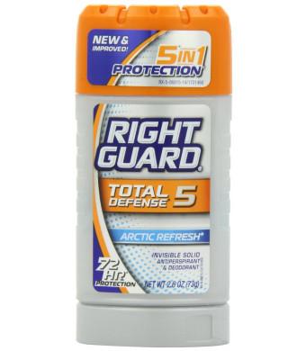 Right Guard Total Defense 5 Antiperspirant Deodorant, Artic Refresh, 2.6 Ounce (Pack of 6)