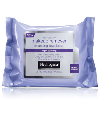 Neutrogena Makeup Remover Cleasing Towelettes, Night Calming, 25 Count (Pack of 2)