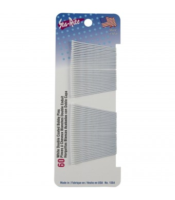 Sta-Rite White Bobby Pins - 60 count