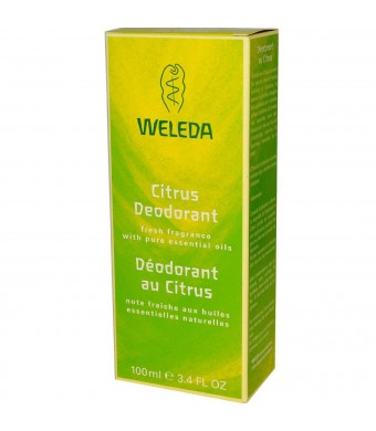 Weleda Deodorant Citrus, 3.4 FL Oz (Pack of 3)