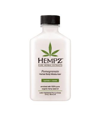 Hempz Herbal Body Moisturizer, Light Pink, Pomegranate, 2.25 Fluid Ounce
