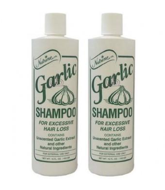 Nutrine Garlic Shampoo Unscented 16oz (Pack of 2)