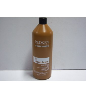 Redken for Men Clean Brew Extra Cleansing Shampoo 33.8oz (1000ml)
