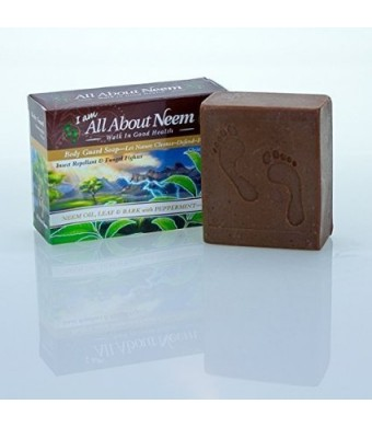 Unknown Neem Oil, Leaf and Bark Soap with Peppermint Maximum Strength Body Guard - For Outdoor Activities