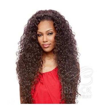 Vanessa Express Synthetic Hair Half Wig Super Weave Las Mogan (1B)