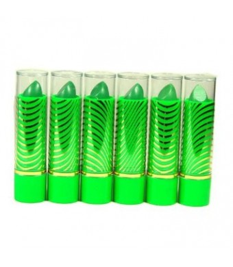 2nd Love Aloe Vera Color Change Mood Lipstick Assorted Lipsticks 6 pc Green