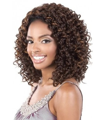 """BeShe 2"""" Deep Lace Front Wig - LACE-45 (CURLY MED SHAG 15"""") (F4/27/30)"""
