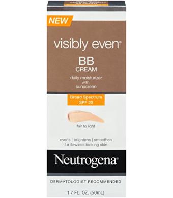 Neutrogena Visibly Even BB Cream Fair To Light, 1.7 Fluid Ounce
