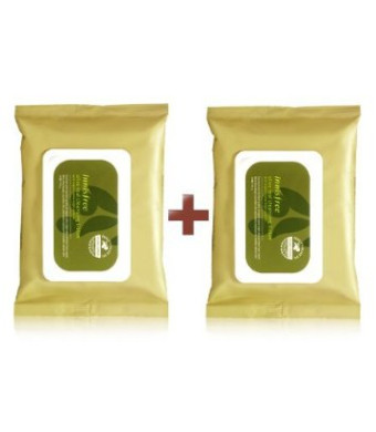 Innisfree Olive Real Cleansing Tissue (Pack of 2 / 60 Sheets)