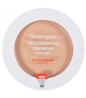 Neutrogena SkinClearing Mineral Powder, Natural Ivory 20, 0.38 Ounce (Pack of 2)