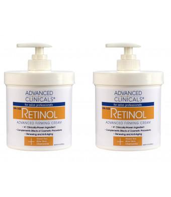 Advanced Clinical Spa Size Advanced Firming Retinol Cream 16oz - Set of Two